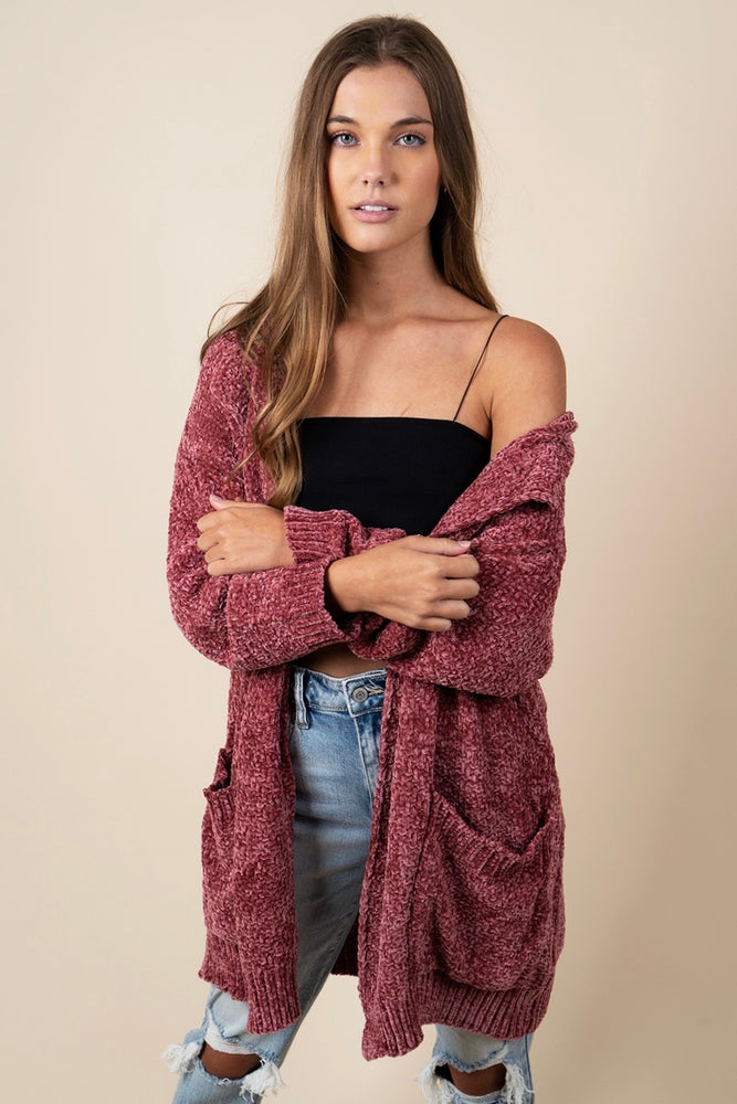 Hold You Closer Cardigan (Rose)