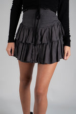 Parting Ways Skirt (Charcoal)