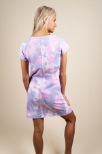 I Got You Babe Tie Dye Dress (Lavender)