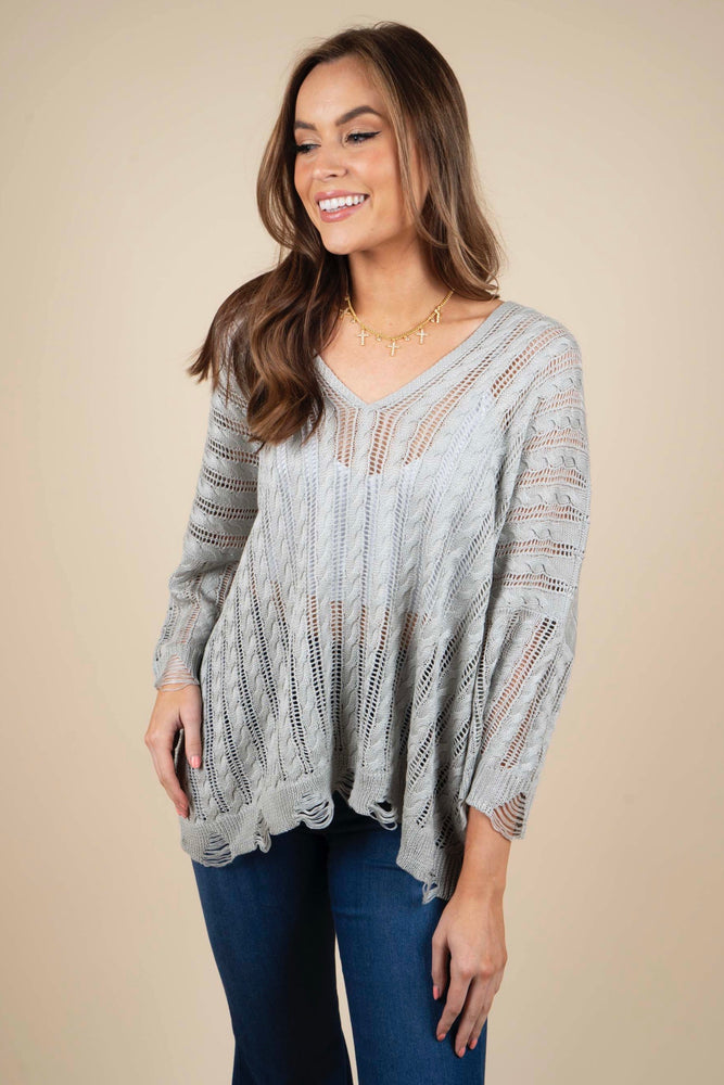 Close To You Sweater (Dove Grey)