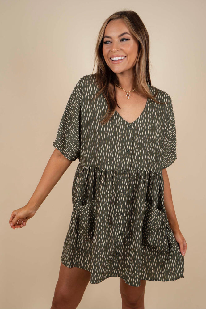 Best Of Me Dress (Olive)