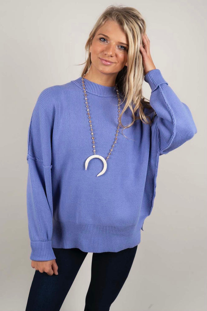 Somewhere With You Sweater (Periwinkle)