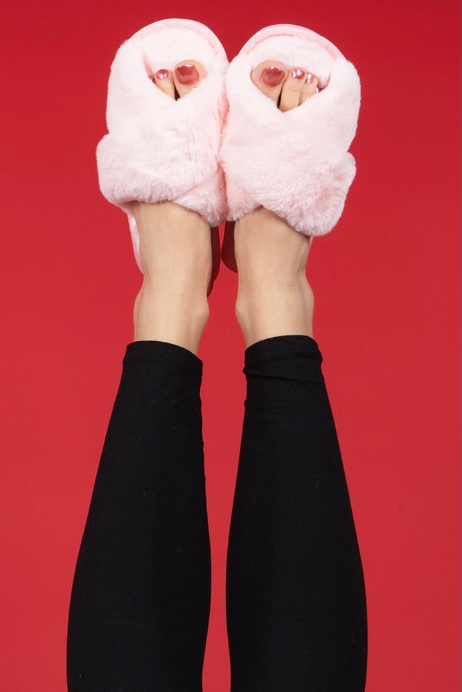 Get Cozy Slippers (Blush)