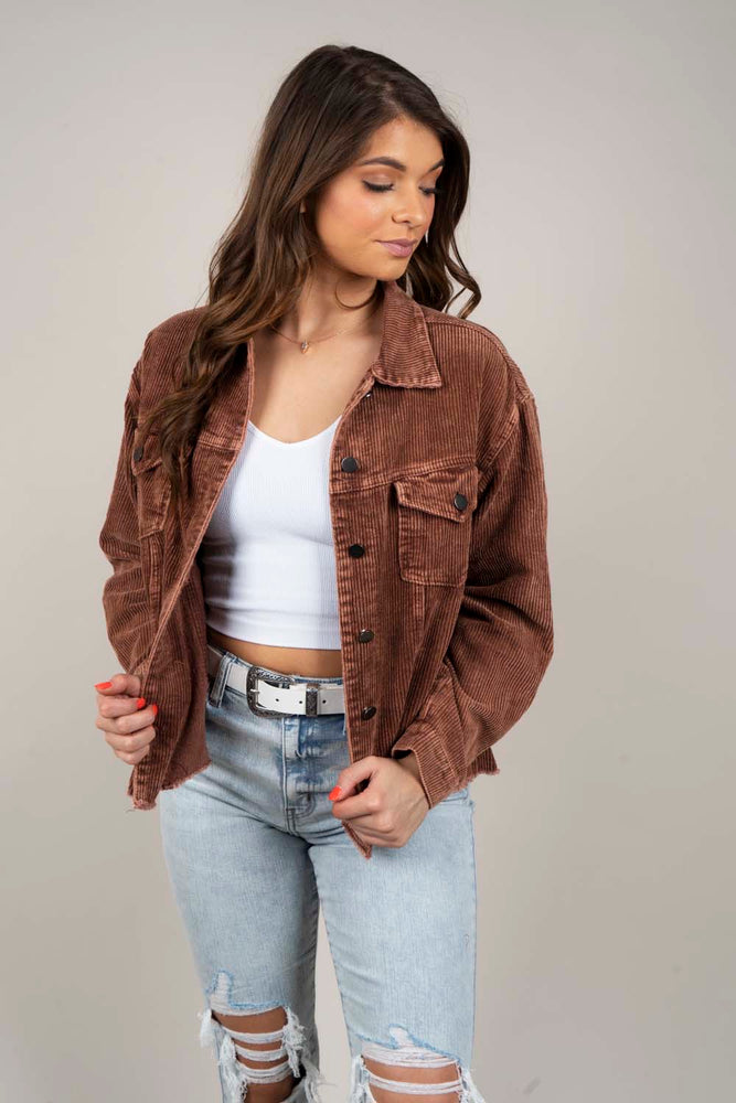 Escape My Heart Jacket (Brown)