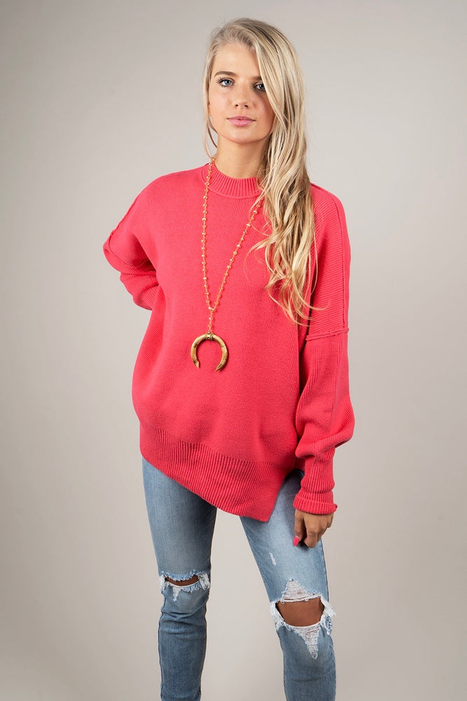 Somewhere With You Sweater (Hot Pink)
