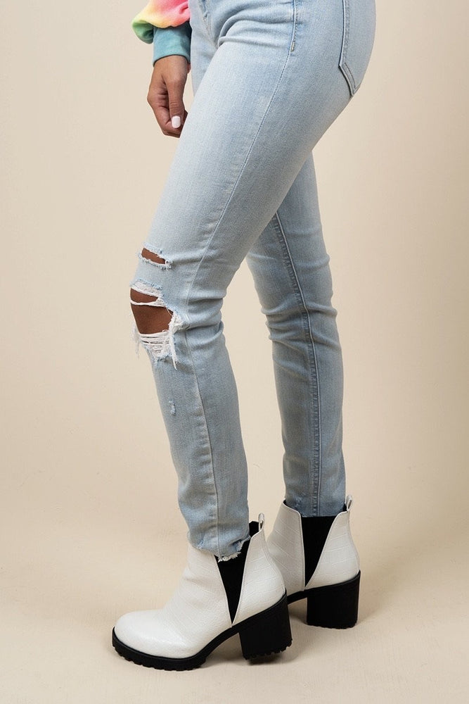 Dirty Laundry Lisbon Booties (White)