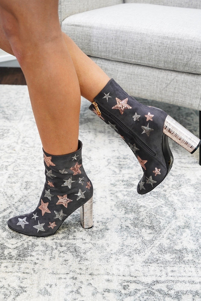 Feelin' Like A Star Booties (Grey)