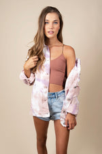 Clever Twist Tie Dye Denim Jacket