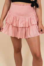 Parting Ways Skirt (Coral Cloud)
