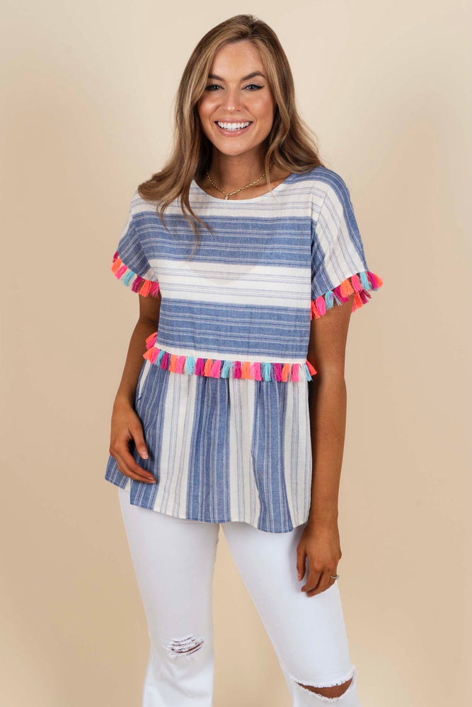 Spring Into Step Top