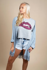 Pink Lip Graphic Tee