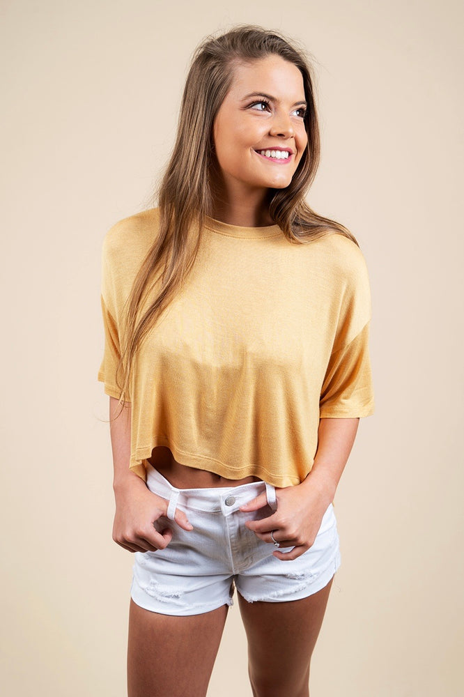 Dare To Be Crop (Gold)