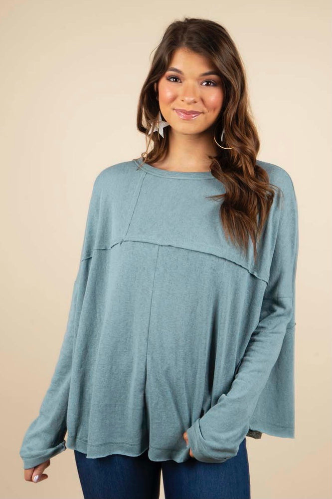Calling To Me Top (Faded Blue)