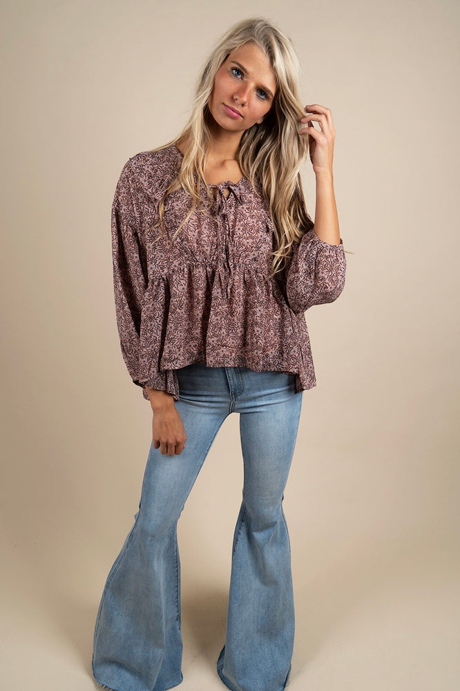 Along You Came Blouse (Dusty Blush)