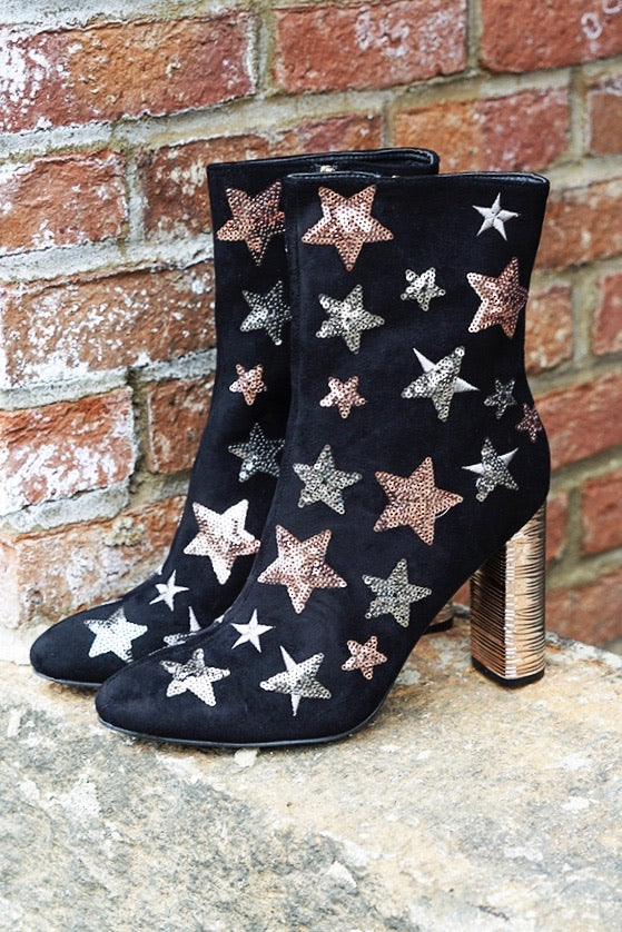 Feelin' Like A Star Booties (Black)