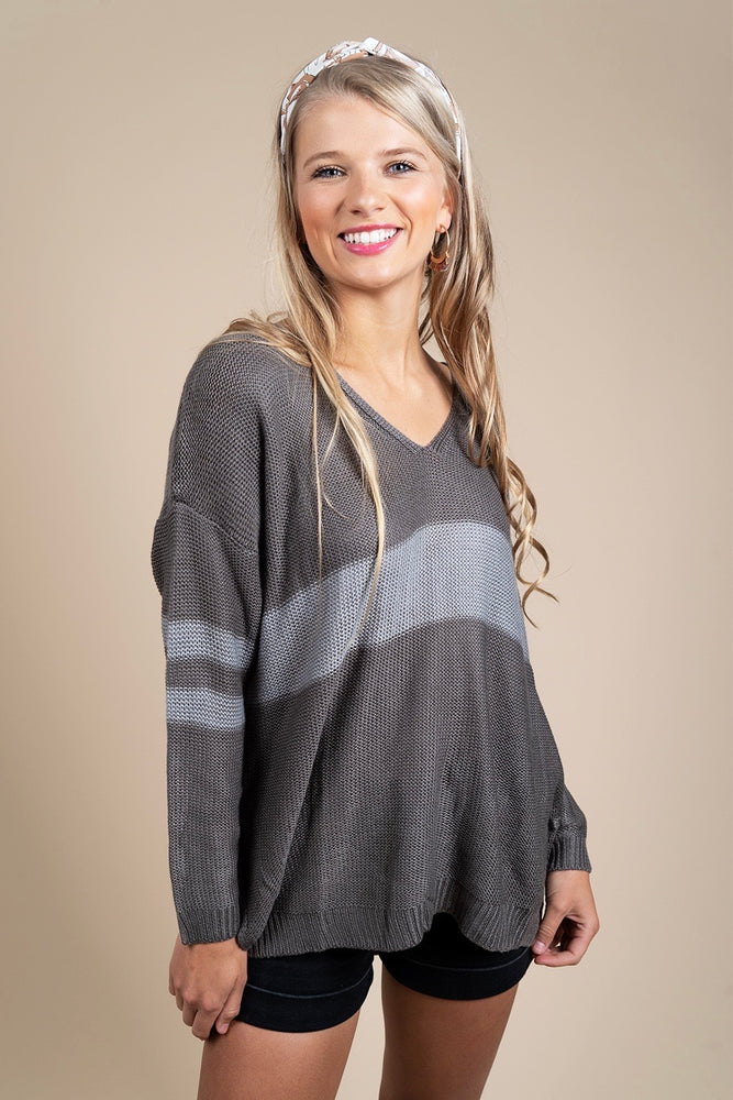 Fall In Love Sweater (Charcoal/Grey)