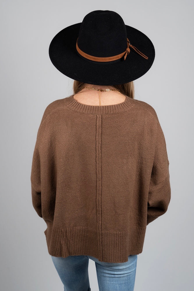 Right This Way Sweater (Mocha)