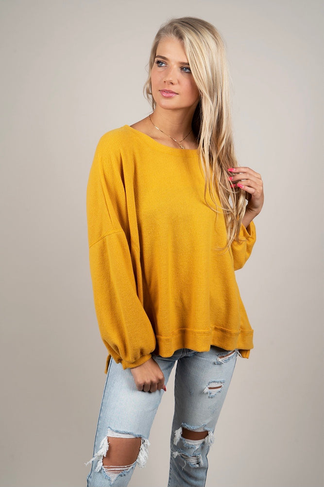 Must Be Yours Top (Mustard)
