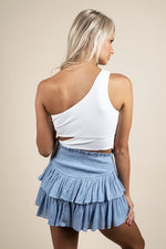Parting Ways Skirt (Misty Blue)