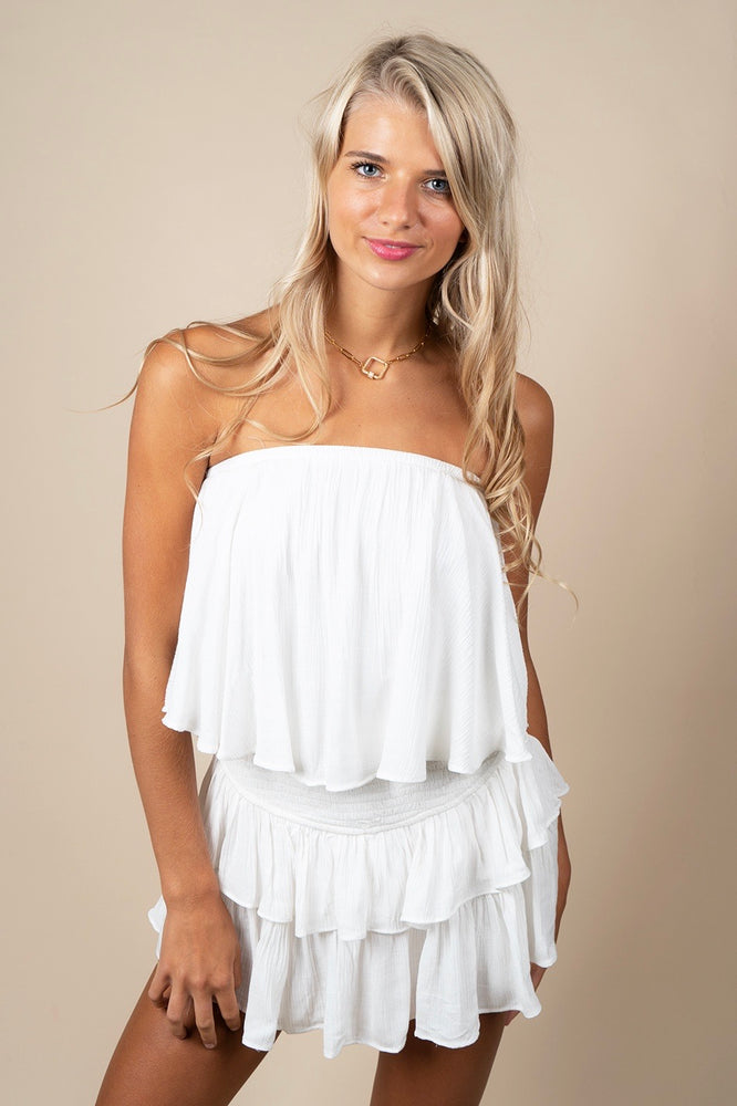 Dare To Love Romper (White)