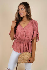 Nothin' On You Blouse (Mauve)