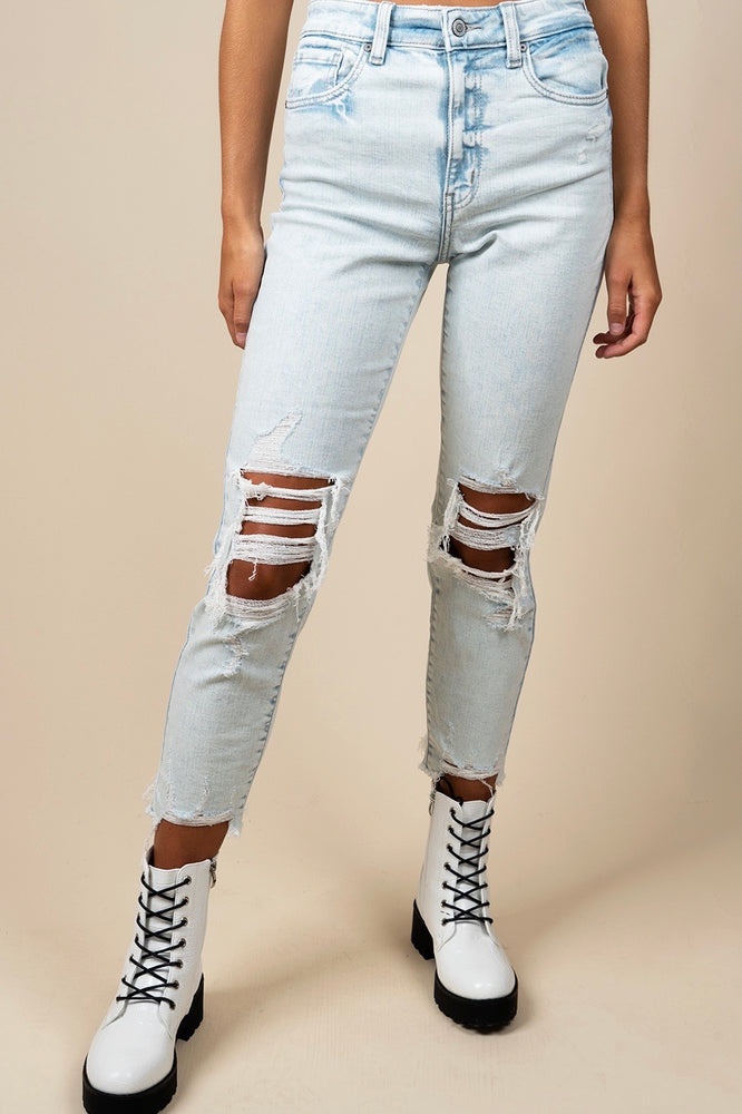 Tobi Super High Rise Mom Jean Crop