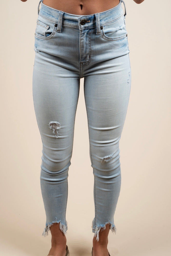 Clara High Rise Skinny Crop Jeans (Young & Reckless LT)