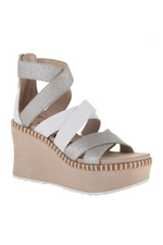 OTBT - PAVILION in GREY SILVER Wedge Sandals