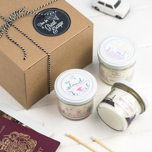 Trio of Mini Scented Candles
