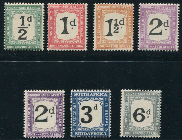 SA 1922-6  POSTAGE DUE SET-SACC D11-16 & 14d