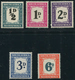 SA 1948-49  POSTAGE DUE SET-SACC D33-7