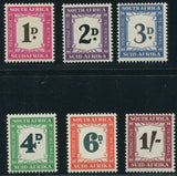 SA 1950-58  POSTAGE DUE SET-SACC D38-43
