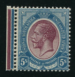 SA 1913 KGV 5/- KINGSHEAD MNH - REDDISH-PURPLE & BLUE  SACC 14a