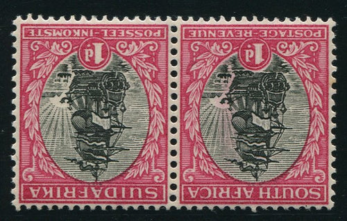 1931 ROTO 1d BLACK & ROSE INVERTED WATERMARK MNH - SACC 43d
