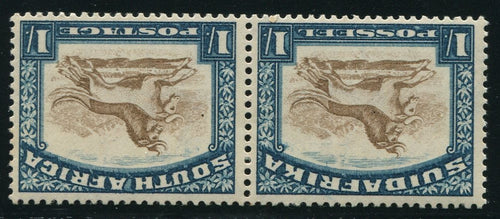 1936 ROTO 1/- YELLOW- BROWN & PRUSSIAN BLUE INVERTED WATERMARK- MNH - SACC 49b