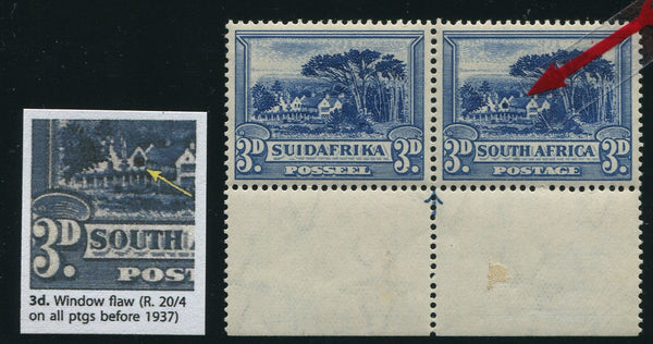 "1933 ROTO 3d BLUE ""SHUTTERED WINDOW"" VARIETY MNH - SACC 46v"