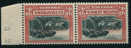 1931 ROTO 3d BLACK & RED INVERTED WATERMARK MNH - SACC 45a