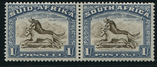 1939 1/-   BROWN & CHALKY BLUE  MNH- SACC 61