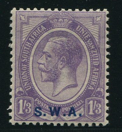 "SWA 1927 KGV 1/3 ""OVERPRINT IN BLUE "" MNH - SACC 91c"