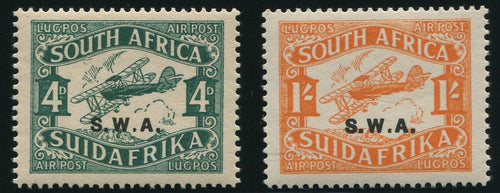 SWA 1930 AIRMAILS MNH- SACC 95/6 TYPE 1