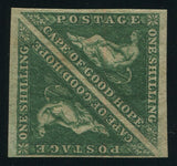CAPE OF GOOD HOPE 1858 1/- TRIANGLE PAIR FINE MINT - SACC 8b