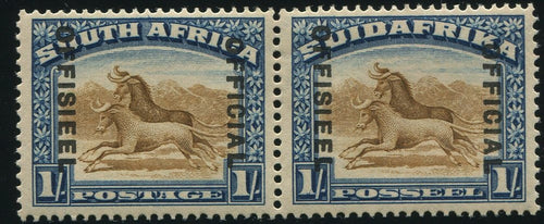 "1932 1/-   OFFICIAL ""DROPPED OFFICIAL"" AT RIGHT  MNH -SACC O21d"