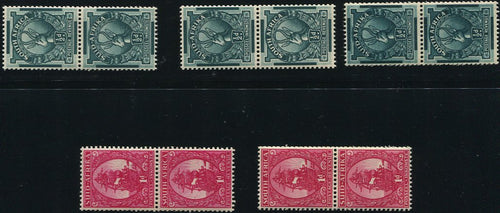 1943 COIL STAMPS  MNH- SACC 104-105b