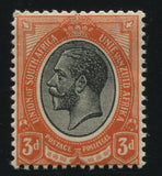 1913 KGV 3d BLACK & ORANGE  - MNH - SACC 7