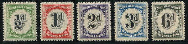 SWA 1931 POSTAGE DUES   MNH - SACC D46-50