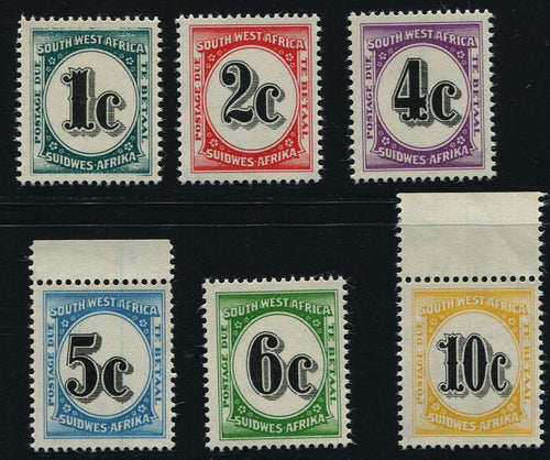 SWA 1961 POSTAGE DUES   MNH - SACC D56-61