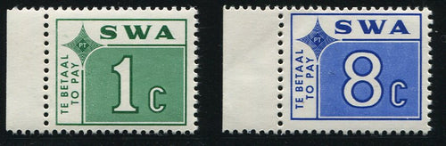 SWA 1972 POSTAGE DUES   MNH - SACC D56-61