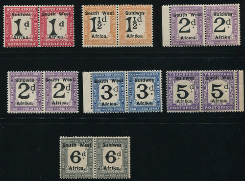 SWA 1927 POSTAGE DUES   MNH - SACC D33-38