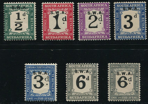 SWA 1928 POSTAGE DUES   MNH - SACC D39-45