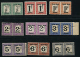 SWA 1923 POSTAGE DUES    MNH - SACC D1-9